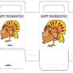 Printable Colored Turkey 1 Favorbag