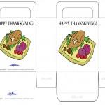 Printable Colored Turkey 2 Favorbag