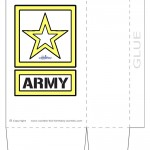 Large Printable Army Star Favorbag
