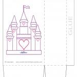 Large Printable Castle Favorbag
