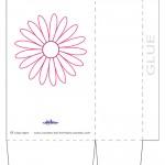 Large Printable Pink Flower Favorbag