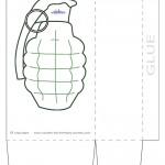 Large Printable Grenade Favorbag