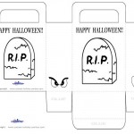 Medium Printable Gravestone Favorbag