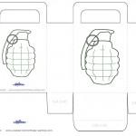 Medium Printable Grenade Favorbag