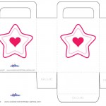 Medium Printable Color Star Favorbag