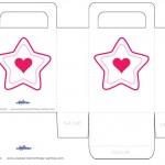 Medium Printable Color Star Favorbag