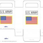 Medium Printable US Army Favorbag