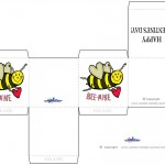 Printable Colored Bee-Mine Valentine's Day Favorbox