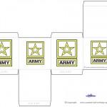 Printable Army Star Favorbox