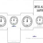 Printable B&W Clock Favorbox