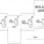 Printable B&W Party Favorbox
