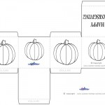 Printable B&W Pumpkin Favorbox