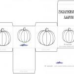 Printable B&W Pumpkin Favorbox