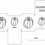 Printable B&W Pumpkin 2 Favorbox