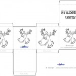 Printable B&W Reindeer Favorbox
