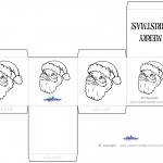 Printable B&W Santa Face Favorbox