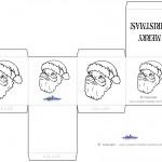 Printable B&W Santa Face Favorbox