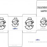 Printable B&W Scarecrow Favorbox