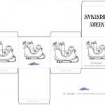 Printable B&W Sled Favorbox