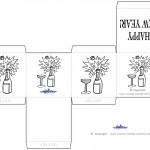 Printable B&W Wine Favorbox