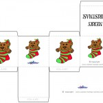Printable Colored Bear Favorbox