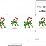 Printable Colored Candycane Favorbox