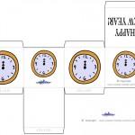 Printable Colored Clock Favorbox