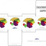 Printable Colored Cornucopia Favorbox