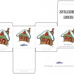 Printable Colored House 1 Favorbox