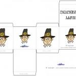 Printable Colored Pilgrim Face 1 Favorbox