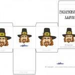Printable Colored Pilgrim Face 2 Favorbox