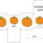 Printable Colored Pumpkin 1 Favorbox
