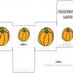 Printable Colored Pumpkin 2 Favorbox