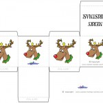 Printable Colored Reindeer Favorbox
