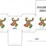 Printable Colored Reindeer Favorbox