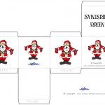 Printable Colored Santa 1 Favorbox