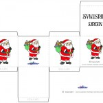 Printable Colored Santa 2 Favorbox