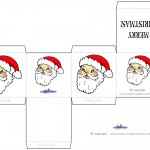 Printable Colored Santa Face Favorbox