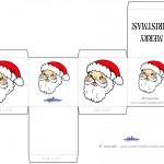 Printable Colored Santa Face Favorbox