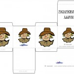 Printable Colored Scarecrow Favorbox