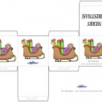 Printable Colored Sled Favorbox
