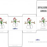 Printable Colored Snowman Favorbox