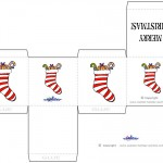 Printable Colored Stocking Favorbox