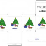 Printable Colored Tree Favorbox