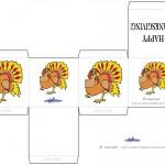 Printable Colored Turkey 1 Favorbox