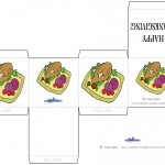 Printable Colored Turkey 2 Favorbox