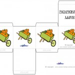 Printable Colored Wagon Favorbox