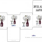 Printable Colored Wine Favorbox