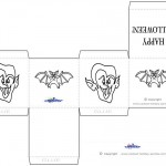 Printable Dracula / Bat Favorbox