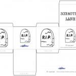 Printable Gravestone Favorbox